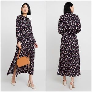 AllSaints Kristen Floral Print Long Sleeve Dress